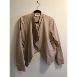 BB Dakota Blush Drape Jacket SZ L